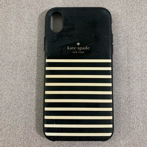 Kate Spade Black & White Striped iPhone XR Case